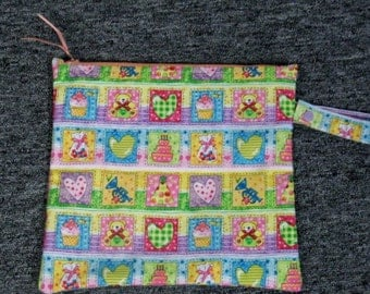 11 x 10 Zippered Kids Wet Bag / With PUL Lining Made & Ready To Ship
