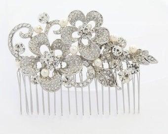Bridal hair flower,Wedding hair accessories,Bridal hair piece,Wedding headpiece,Bridal hair clip,Wedding hair flower,Bridal comb,Wedding