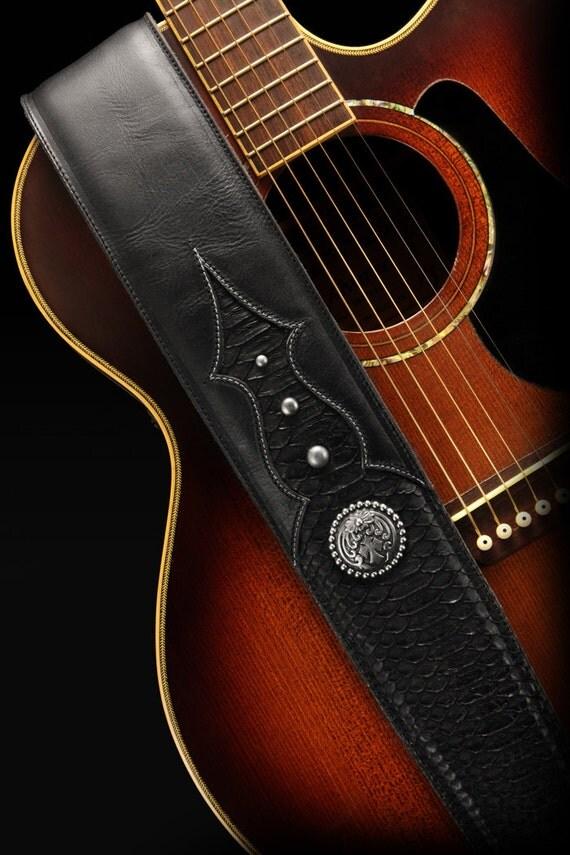 leather guitar strap snakeskin guitar strap custom guitar. Black Bedroom Furniture Sets. Home Design Ideas