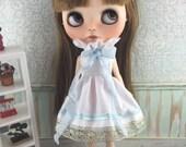 Blythe Regal Dress - Blue and White