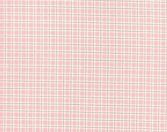 ON SALE Moda Fabric MISTLETOE Lane By Bunny Hill 1/2 Yard 2886-13 Lotus Pink Plaid