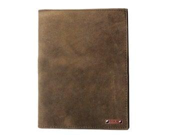 Classic Padfolio in Distressed Latigo Leather Made in the U.S.A. - LG-CL-PDFL