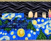 Starry Night Zero Waste Roll Up Placemat Set