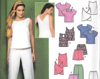 Simplicity 9269 Top And Pants Or Shorts Sewing Pattern 6 Styles or Pieces Made Easy Size 8, 10, 12 and 14