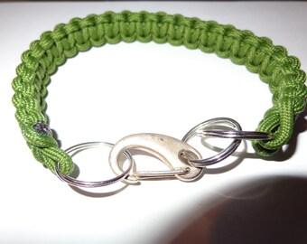 "13"" Dog Collar paracord(550lb) green handmade"