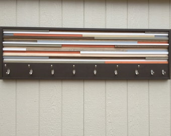 Wood Wall Art - Wood Art - Reclaimed Wall Art - Coat Rack 60x18