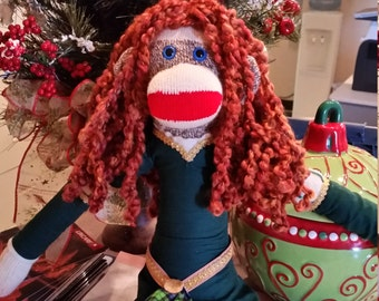 Custom Made To Order Red Heel Sock Monkey- Name Your Theme- Anything You want