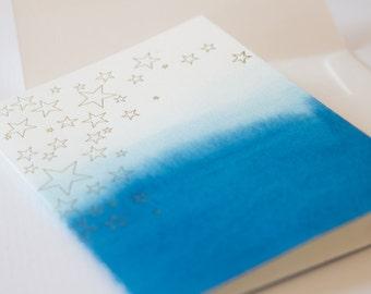 Star - Letter Press Watercolor Card