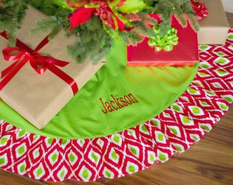 Ikat Tree Skirt - add your own personalization