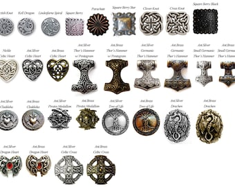 Decorative Medallions added to Earthly Leather Design Skirt Hikes or Mug Strap