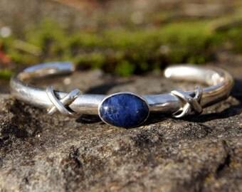 Escorcia Taxco Mexico Lapis Silver Bracelet