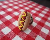 Custom Listing... Hot Dog Tie Tack