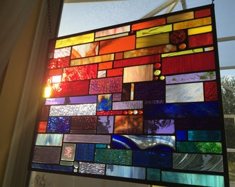 Stained Glass Suncatcher SUNSET