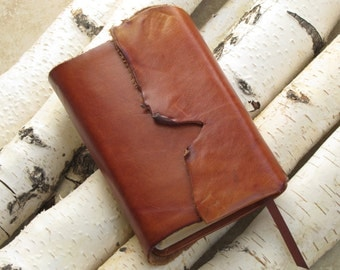 Leather Bible Message Version with protective flap magnetic clasp