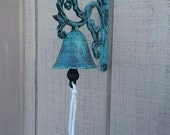 Cast IronTurquoise  Blue Dinner Bell