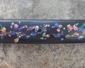 Rainbow Barrette Fused Dichroic Glass Barrette French Barrette