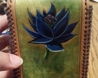 Painted /Tooled Custom Leather Deck Box for CCG/ TCG / MTG, your design!