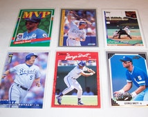 Vintage Lot of 6 George Brett Baseball Cards