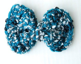 Girl's Crochet Bows Ribbon Bows Wedding Bows Party Bows Hair Accessories Prom Bows Toddler Bows In Teal White And Black