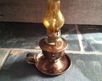 Vintage Copper Oil Lamp or Lantern