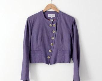SALE vintage Armand Ventilo blazer, French linen jacket