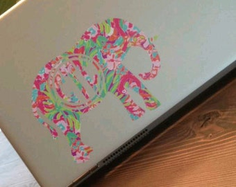 Elephant Lilly Inspired Decal - Monogrammed