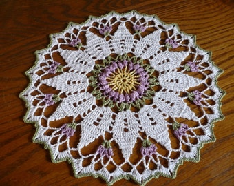 Lavender and White doily
