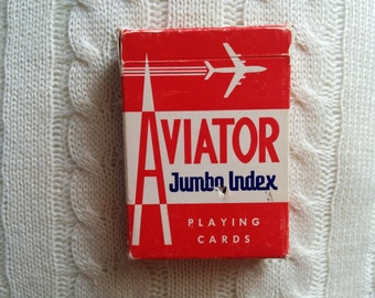 Vintage Aviator Playing Cards - gently used