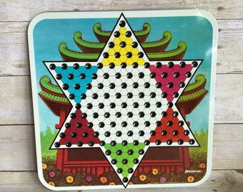 Vintage Pressman Toy Chinese Checker Board