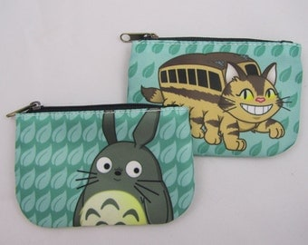 Totoro or Catbus Double sided Coin Purse