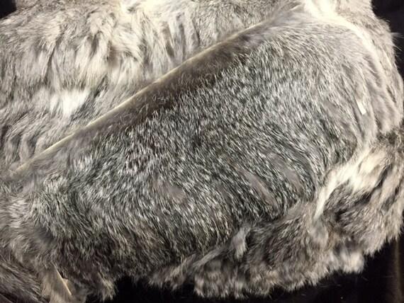real vintage 4 inch wide fringe rabbit fur trim perfect to. Black Bedroom Furniture Sets. Home Design Ideas