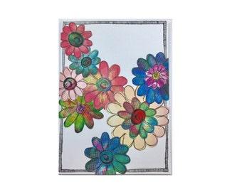 Paper Flower Garden Series on White (PFGW-0004)