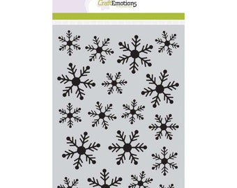 Craftemotions A5 Stencil -  Crystal Snowflakes