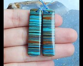 Rainbow Jasper Earring Bead,40x10x4mm,6.0g