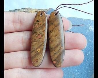 Jasper Gemstone Earring Bead,43x12x4mm,8.4g