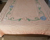 Chenille Bedspread, Full Chenille Bedspread, Peach