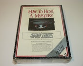 Star Trek The Next Generation – How To Host A Mystery – Dinner Party RPG Game - New - Sealed