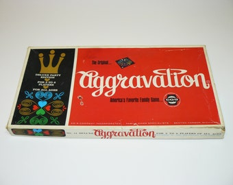 1970 DELUXE AGGRAVATION Game CO-5 No. 14 - The Original Marble Game - Real Glass Marbles