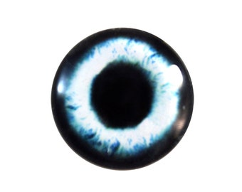 30mm Mysterious Mermaid Glass Eye in Pale Blue and Black