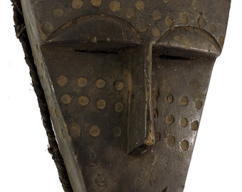 Lwena Mask Spotted Face Angola Congo African Art 101249