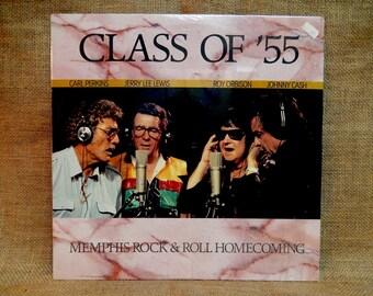 "CRAZY CUPID SALE Carl Perkins, Jerry Lee Lewis, Roy ORBiSon, Johnny Cash - Class of ""55 - 1986 Vintage Vinyl 2 lp Gatefold Record Album"