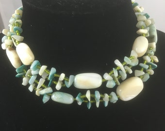 Double Strand Shell Necklace - Made in Japan