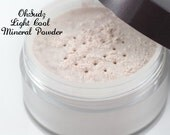 Light Cool Mineral Foundation - All Natural - Non Nano Foundation Powder - Rosacea and Acne