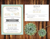 Customized Printable Wedding Set for Victoria
