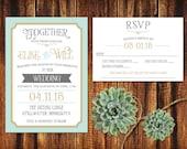 Customized Printable Wedding Set for Victoria