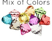 10 Bling DIAMOND Pendants MEDIUM MIX Chunky Bead Acrylic Drop Centers H686