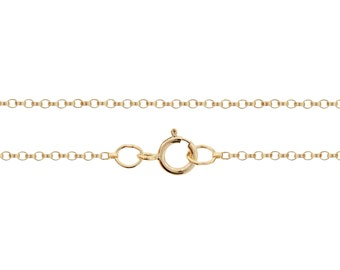 Finished Chains with spring ring clasp Gold Filled 1.2mm 24 Inch Tiny Rolo Chain - 1pc (2807)/1
