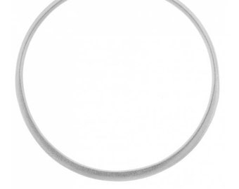 Large Circle Link  Sterling Silver 30x30mm Hammered Circle Link - 1pc (4401)