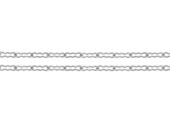 Sterling Silver 1.7mm Krinkle Chain - 5ft Made in USA 10% discounted LOWEST PRICE wholesale quantity (5340-5)/1