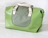 Weekender Bag, Duffle Bag, Overnight Bag, Carry-on unisex bag in Avocado Green